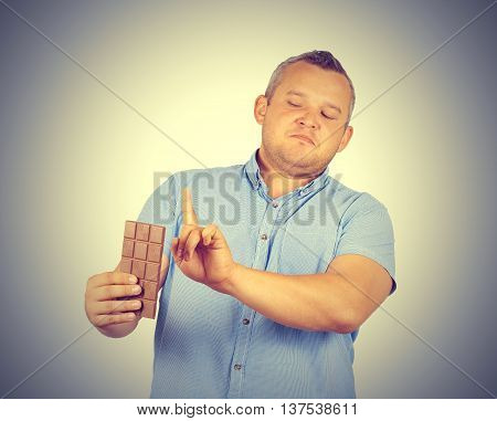 Fat Man Refuses To Chocolate.