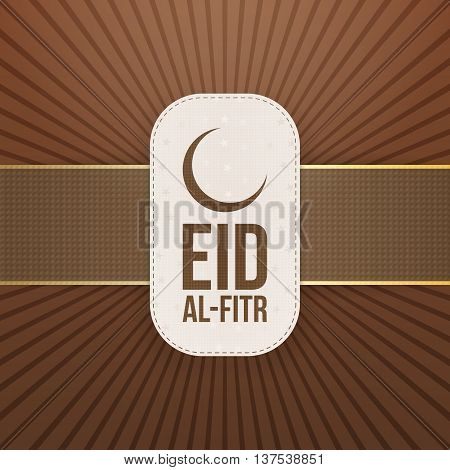 Eid al-Fitr decorative festive Tag. Vector Illustration