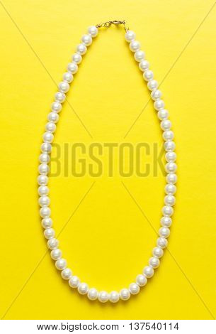 White Pearl Necklace Of One String