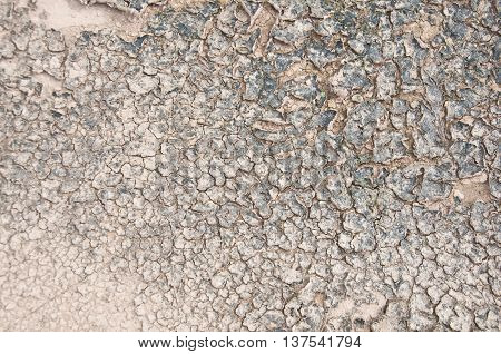 Dry soil cracking or soil background, top view