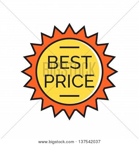 Star sticker with best price inscription. Badge, label, discount, sale. Best price concept. Can be used for topics like shopping, commerce, sales, advertising