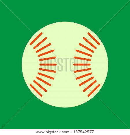 Baseball Ball Sign. Equipment For Professional American Sport. Simple Design. Sport Competition Sign