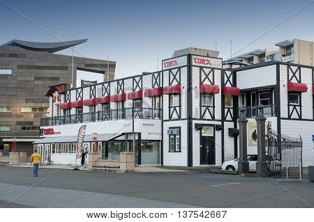 Wellington New Zealand - March 3 2016: Circa Theatre on Wellington waterfront, north island of New Zealand