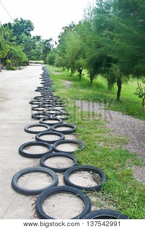 Bicycle Wheel decorate garden Thai style toy
