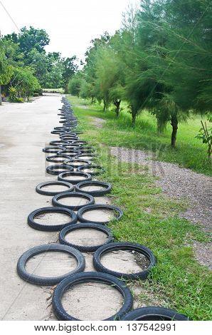 Bicycle Wheel decorate garden Thai style toy