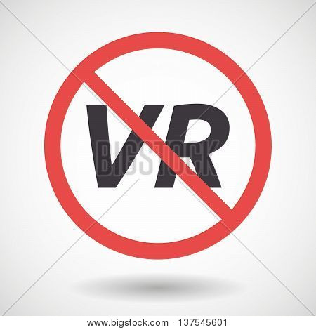 Isolated Forbidden Signal With    The Virtual Reality Acronym Vr