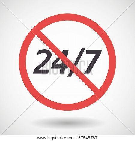 Isolated Forbidden Signal With    The Text 24/7