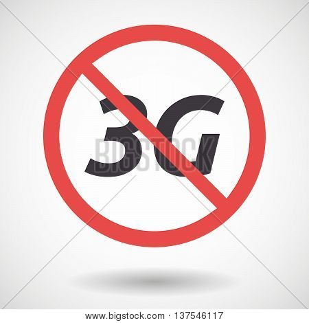 Isolated Forbidden Signal With    The Text 3G