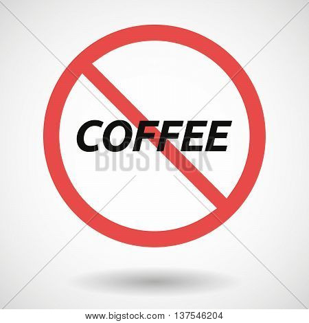 Isolated Forbidden Signal With    The Text Coffee