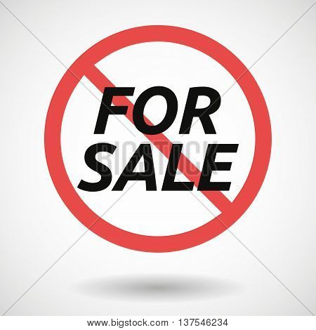 Isolated Forbidden Signal With    The Text For Sale