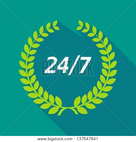 Long Shadow Laurel Wreath With    The Text 24/7