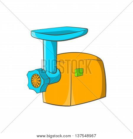 Electric grinder icon in cartoon style isolated on white background. Appliances symbol