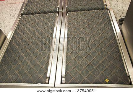 empty conveyor belt of airport in airport