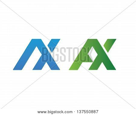 Letter AX logo template Abstract design vector