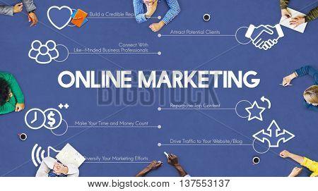 Online Marketing Advertisement Promotion Advertising Concept