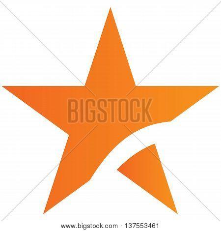 Abstract star icon arrow symbol arrow bow and arrow illustration vector