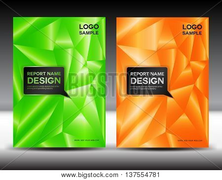set Cover Annual report design cover template For book brochure flyer poster booklet leaflet cd cover postcard business card annual report