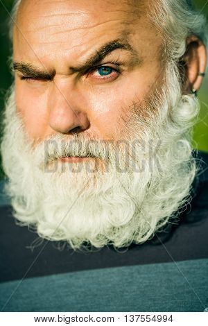 Setious Bearded Man