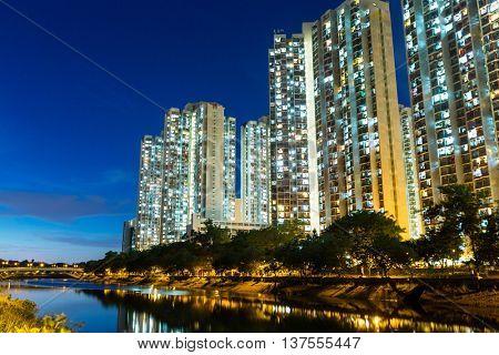 Hong Kong apartment at night