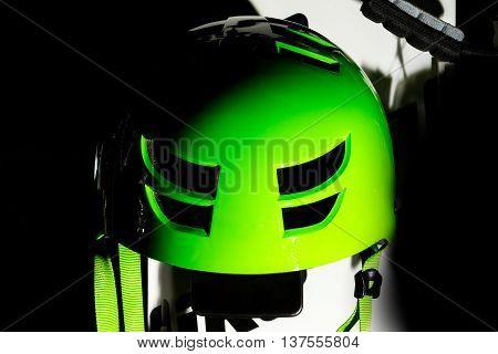 Protective Green Helmet