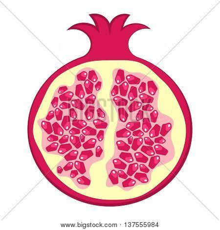 Pomegranate Colorful Icon