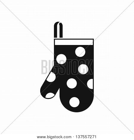 Kitchen glove icon in simple style isolated vector illustration