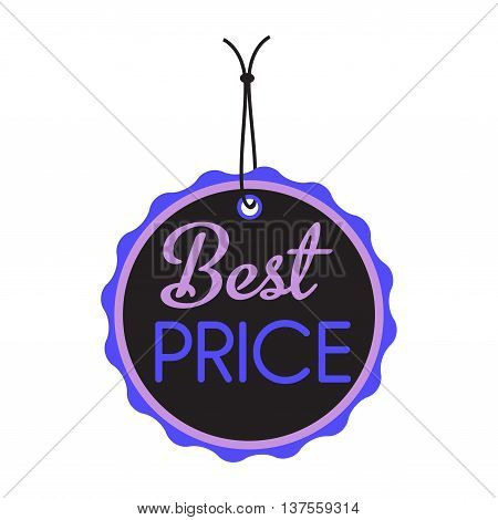 Isolated tag with the text best price