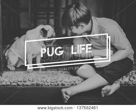 Human Bestfriends Pug Life Concept
