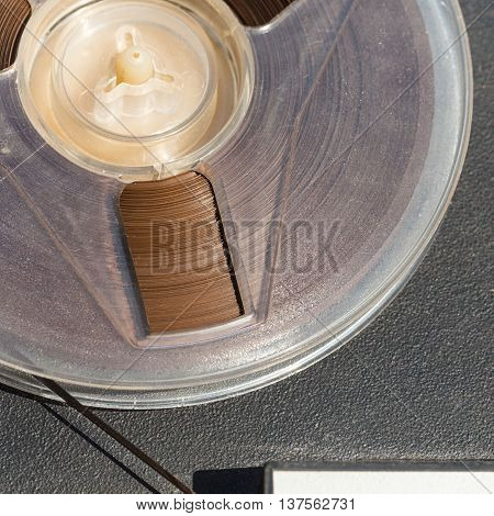 Reel With Recording Tape Close Up