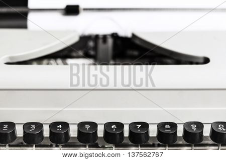 Character Keys Of Old Typewriter