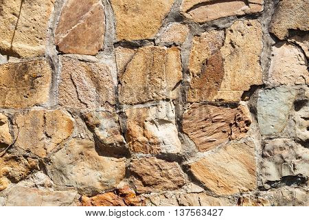 Outdoor Wall From Natural Cobbles