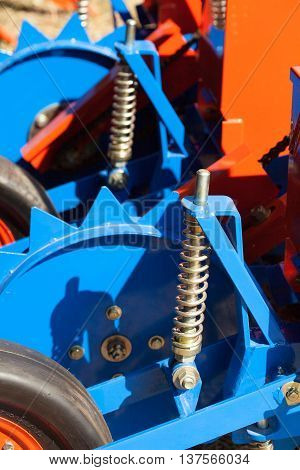 The rubber wheels and a gear drive.