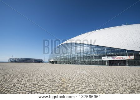 Sochi, Russia - July 6: Bolshoy Ice Dome on June 06, 2016 in Sochi, Russia for World Choir Games 2016