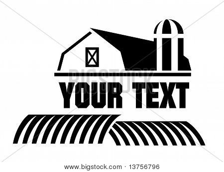 Barn and farm icon