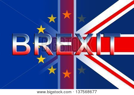 Brexit Flags Means Kingdom Britain Politics And Remain