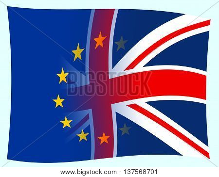 Brexit Flags Shows Britain Patriotism Democracy And Nation