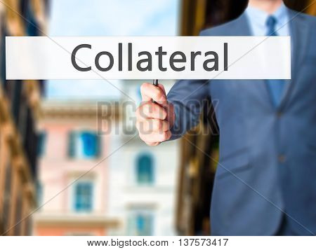 Collateral - Business Man Showing Sign