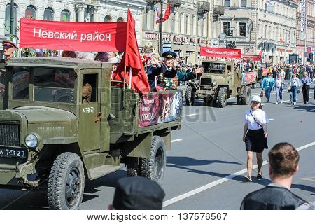 St. Petersburg, Russia - 9 May, People in the military,
