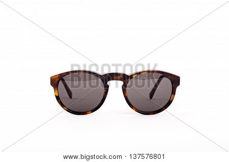 Luxury Brown Sunglasses isolated on white background