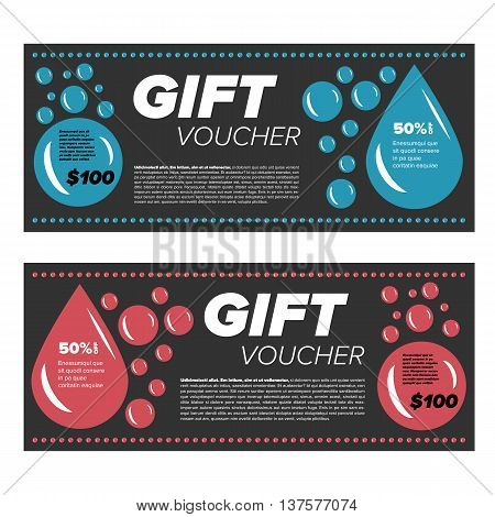 Gift voucher design template for laundry services