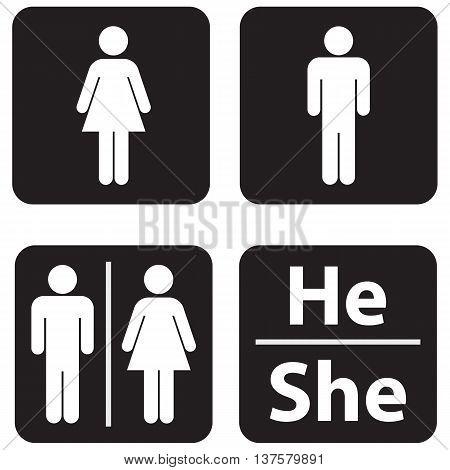 Restroom illustration symbol women men public restroom domestic