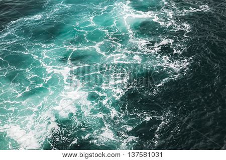 Deep Blue Stormy Sea Water Surface Texture