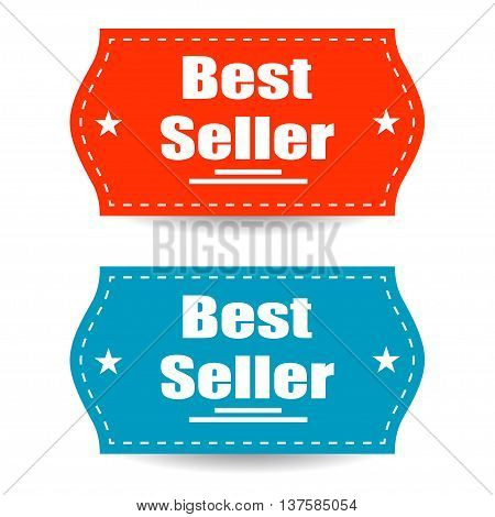 Best Seller Stickers Isolated Background Stylish Design