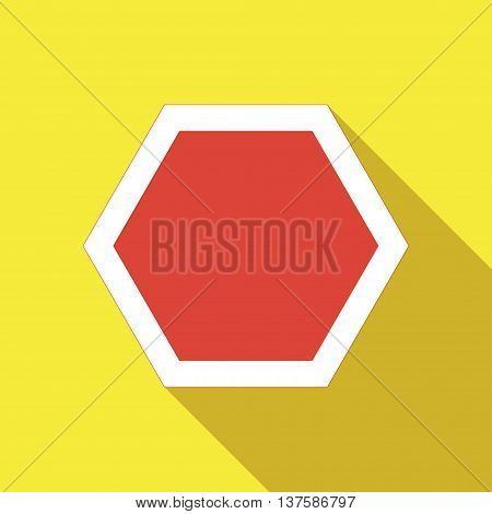 Icons Of Road Signs On A White Background