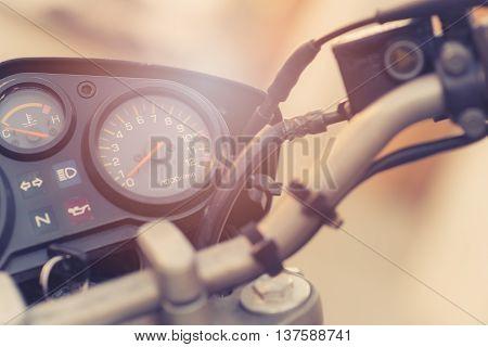 Classic Motorbike Control Panel