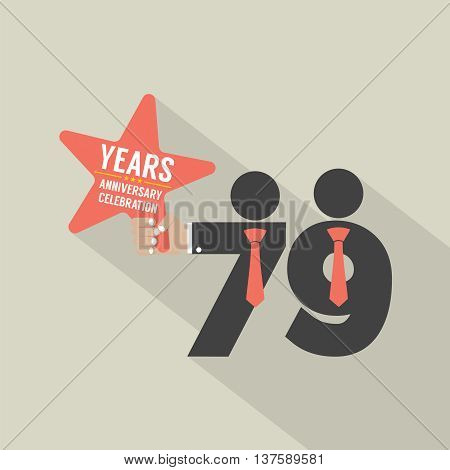 79th Years Anniversary Typography Design Vector Illustration. EPS 10