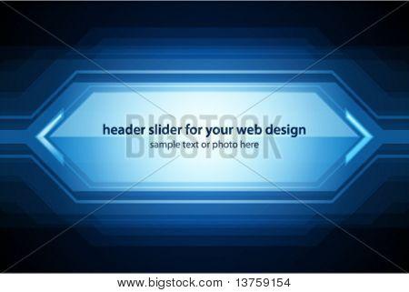 Vector header slider for your web design