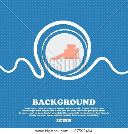 Pen And Ink Sign Icon. Blue And White Abstract Background Flecked With Space For Text And Your Desig