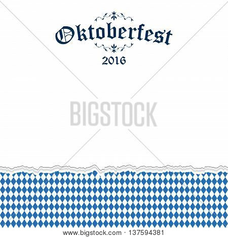 Oktoberfest 2016 Background With Ripped Paper