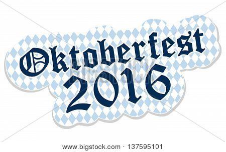 Patch With Text Oktoberfest 2016